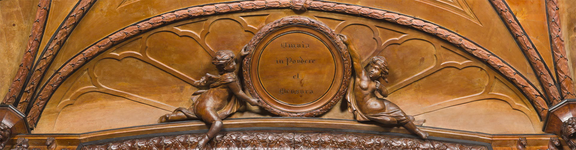 Allegorie della scienze nelle lunette del Museo Farmacia Mazzolini Giuseppucci